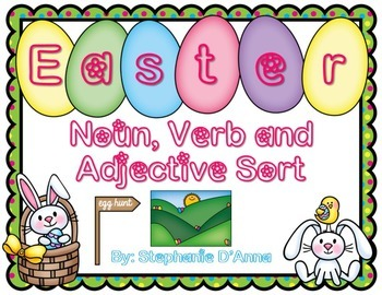 Easter and Spring Noun, Verb and Adjective Sort