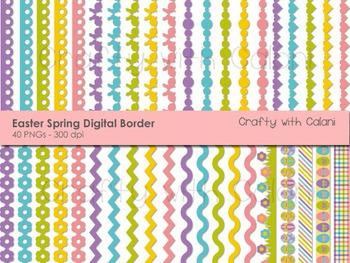 Easter and Spring Theme Digital Border Clip Art Set