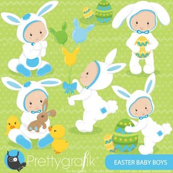 Easter baby boy clipart commercial use, vector graphics, d