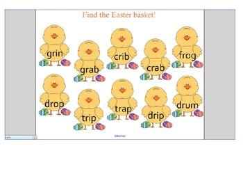 Easter blending SMART notebook game