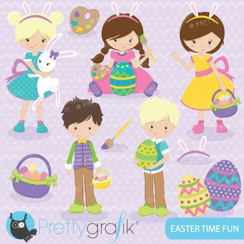 Easter kids clipart commercial use, vector graphics, digit