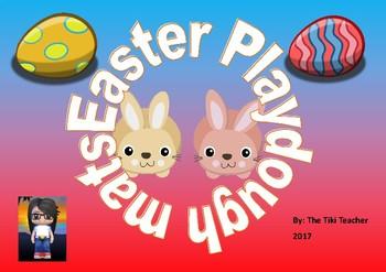 Easter themed play dough mats for Kindergarten