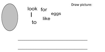 Easter/Spring Mix Up Sentences