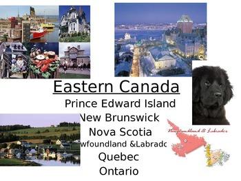 Eastern Canada provinces