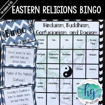 Eastern Religions/Philosophies Bingo {Hinduism, Buddhism,