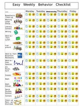 Easy Behavior Checklist