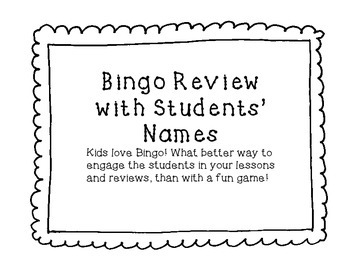 Easy Bingo Review Game