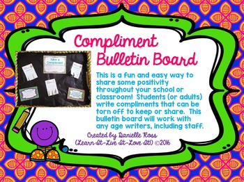 "Easy Bulletin Board- ""Take a Compliment"""