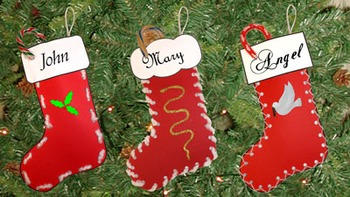 Easy Christmas stocking craft