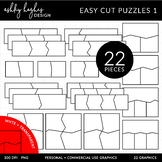 Easy Cut Puzzle Templates {Graphics for Commercial Use}