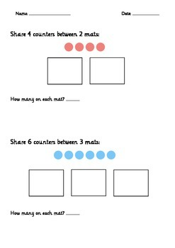 Easy Division Sharing Activity