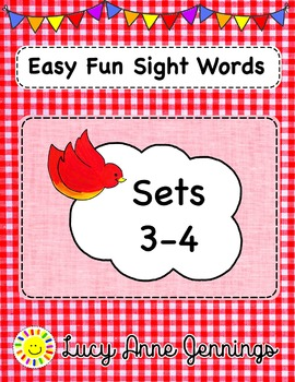 Easy Fun Sight Words, Sets 3-4