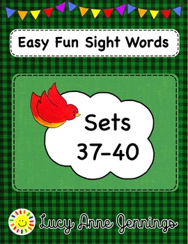 Easy Fun Sight Words, Sets 37-40