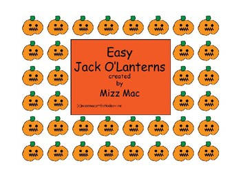 Easy Halloween Jack o Lantern art project