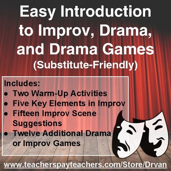 Easy Introduction to Improv Drama and Drama Games (Substit