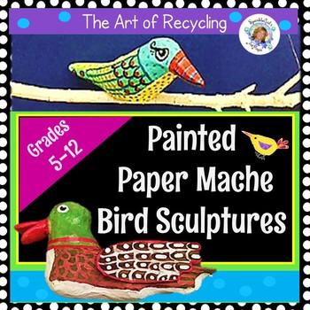 Easy Paper Mache Bird Sculptures
