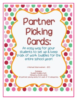 Easy Partner Assignment Cards