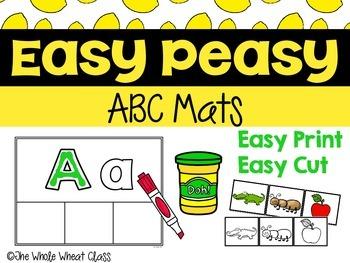 Easy Peasy ABC Mats