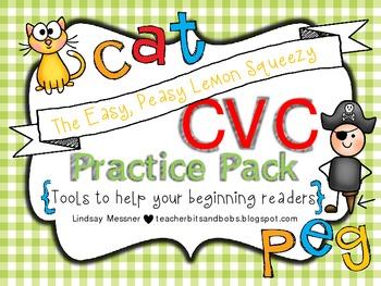 Easy Peasy Lemon Squeezy CVC Practice Pack