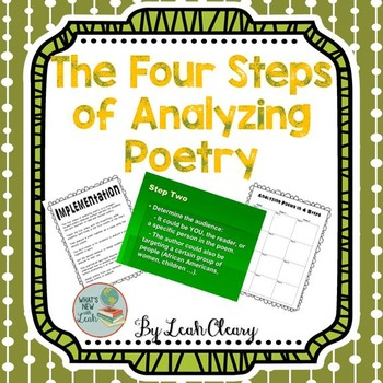 Easy Poetry Analysis with the Four Steps