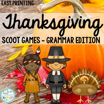 Thanksgiving Grammar Scoot Games: Noun and Verb Agreement