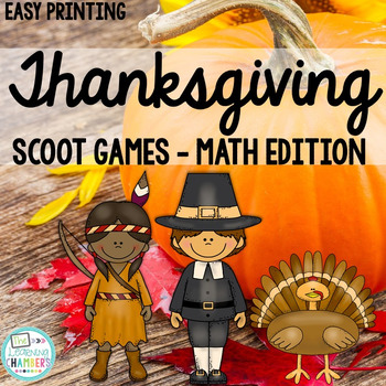 Thanksgiving Math Scoot Games: Word Problems and 2-Digit S