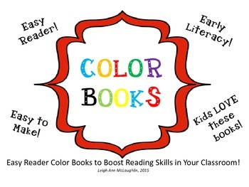 Easy Reader Color Books / Common Core Aligned!