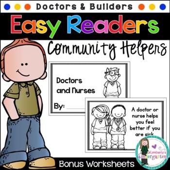 Easy/Emergent Readers! Community Helpers: Doctors/Nurses &