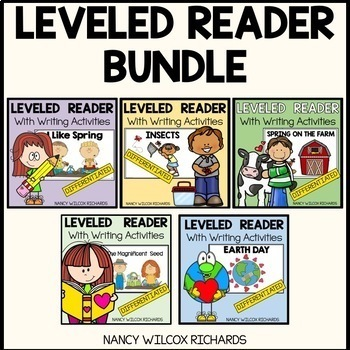#springbackin Easy Readers Spring BUNDLE -3 Different Leve