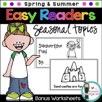 Easy Readers! Spring and Summer Theme. Pre-K & Kindergarte