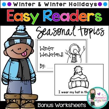 Easy Readers! Winter & Winter Holidays. Pre-K & Kindergart