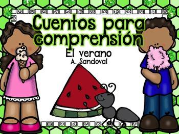 Easy Reading Comprehension SUMMER in Spanish comprensión d