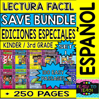 Easy Reading For Reading Comprehension in Spanish - Bundle