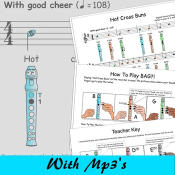 Recorder Songs And Activities - Hot Cross Buns - Free - Di