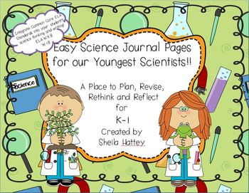 Easy Science Journal Pages for Our Youngest Scientists!