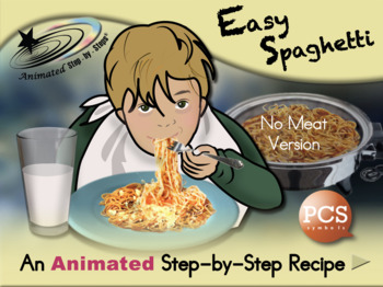 Easy Spaghetti - Animated Step-by-Step Recipe PCS