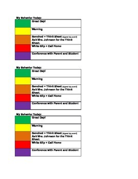 Easy Student Self Monitoring Classroom Management Plan-PRO