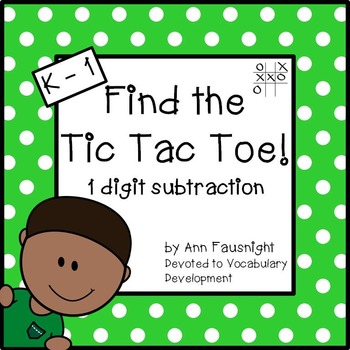 Easy Subtraction: Find the Tic Tac Toe