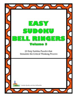 Easy Sudoku Bell Ringers 20 Easy Puzzles To Stimulate Crit