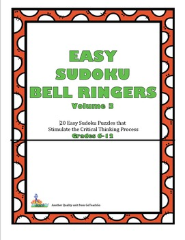 Easy Sudoku Bell Ringers Vol.3  20 Easy Puzzles To Stimula