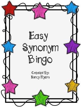 Easy Synonym Bingo