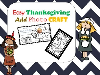 Easy Thanksgiving Photo Craft