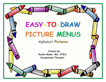 Easy-To-Draw Picture Menus: Alphabet Pictures
