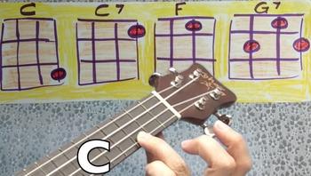 Easy Ukulele Chord Progression play along video