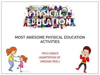 Easy Version of Virginia Reel Dance to YMCA Song
