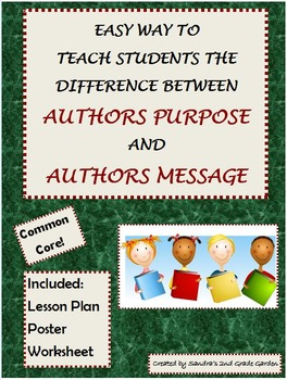 Easy Way to Teach Author's Purpose and Author's Message