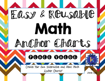 Easy and Reusable Math Anchor Charts - Place Value