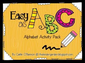Easy as ABC! {Alphabet Activity Pack}