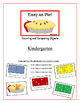 """Easy as Pie!"" Kindergarten Counting Common Core Game"
