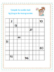 Easy math- fill in the number chart to 100- 2 pages